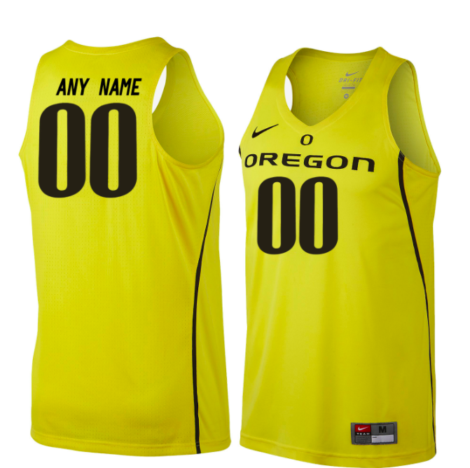 Oregon Ducks Jersey - Custom Yellow Basketball Jersey - Any Name and Number