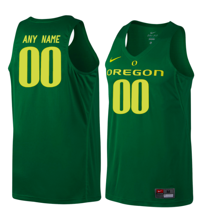 Oregon Ducks Jersey - Custom Green Basketball Jersey - Any Name and Number