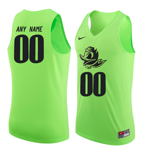 Oregon Ducks Jersey - Custom Lime Basketball Jersey - Any Name and Number