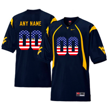 Load image into Gallery viewer, West Virginia Mountaineers Jersey - Custom Blue Salute Jersey - Any Name and Number