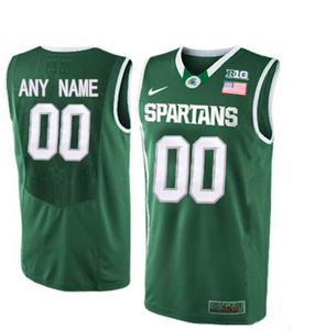 Michigan State Spartans Jersey - Custom Green Basketball Jersey - Any Name and Number
