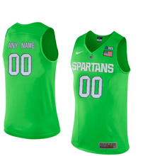 Load image into Gallery viewer, Michigan State Spartans Jersey - Custom Lime Green Basketball Jersey - Any Name and Number