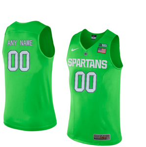 Michigan State Spartans Jersey - Custom Lime Green Basketball Jersey - Any Name and Number