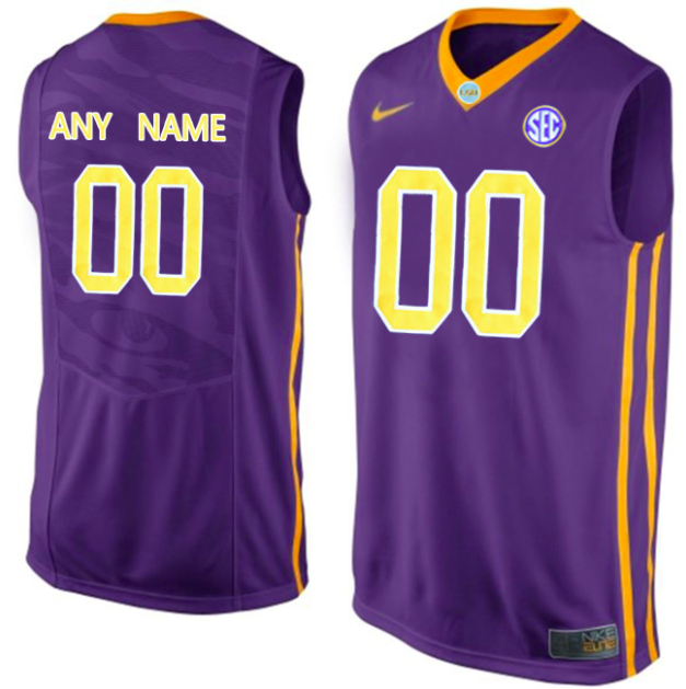 LSU Tigers Jersey - Custom Purple Basketball Jersey - Any Name and Number