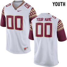 Load image into Gallery viewer, Florida State Seminoles Jersey - Custom YOUTH White Jersey - Any Name and Number