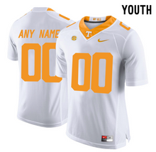 Load image into Gallery viewer, Tennessee Volunteers Jersey - Custom YOUTH White Jersey - Any Name and Number