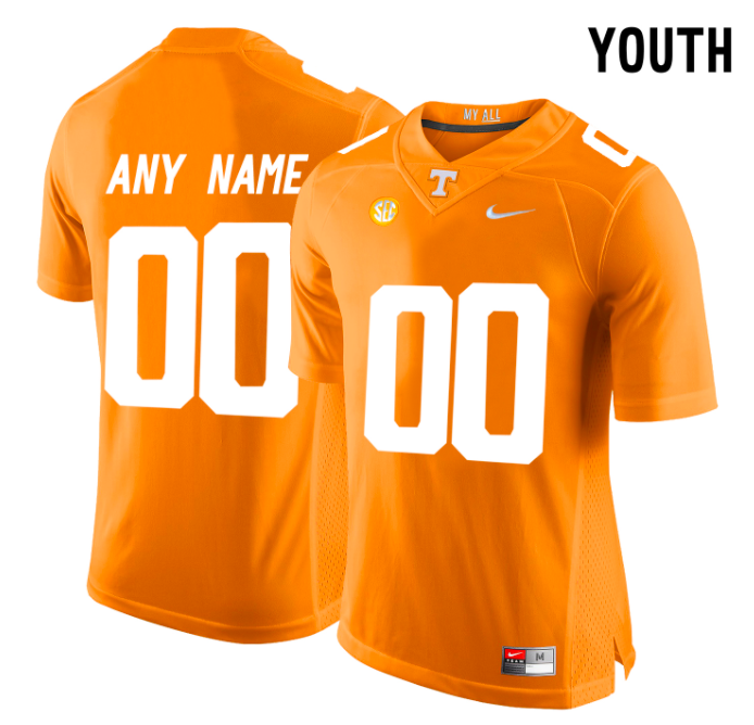 Tennessee Volunteers Jersey - Custom YOUTH Orange Jersey - Any Name and Number
