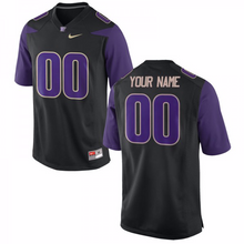 Load image into Gallery viewer, Washington Huskies Jersey - Custom Black Jersey - Any Name and Number