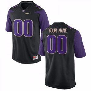 Washington Huskies Jersey - Custom Black Jersey - Any Name and Number