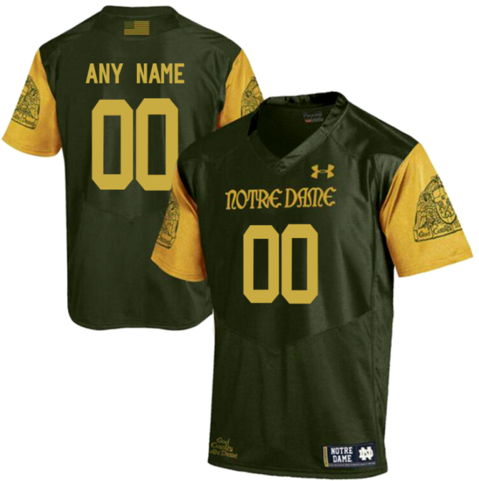 Notre Dame Jersey - Custom Shamrock Series Jersey - Any Name and Number