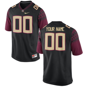 Florida State Seminoles Jersey - Custom Black Jersey - Any Name and Number