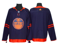Load image into Gallery viewer, Edmonton Oilers Jersey - Blue 50th Anniversary