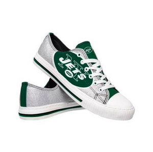 New York Jets Shoes - Womens Glitter Low Top Canvas Shoe