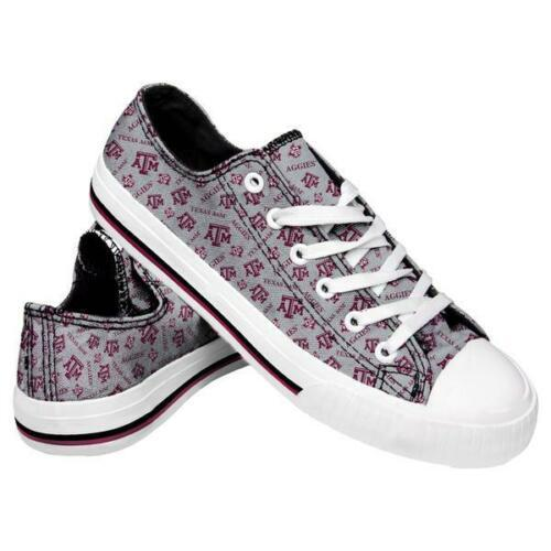 Texas A&M Aggies Shoes - Womens Low Top Repeat Print Canvas Shoe