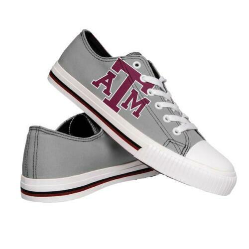 Texas A&M Aggies Shoes - Mens Low Top Big Logo Canvas