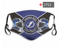 Load image into Gallery viewer, Tampa Bay Lightning Face Mask - Reuseable, Fashionable, Washable, Several Styles