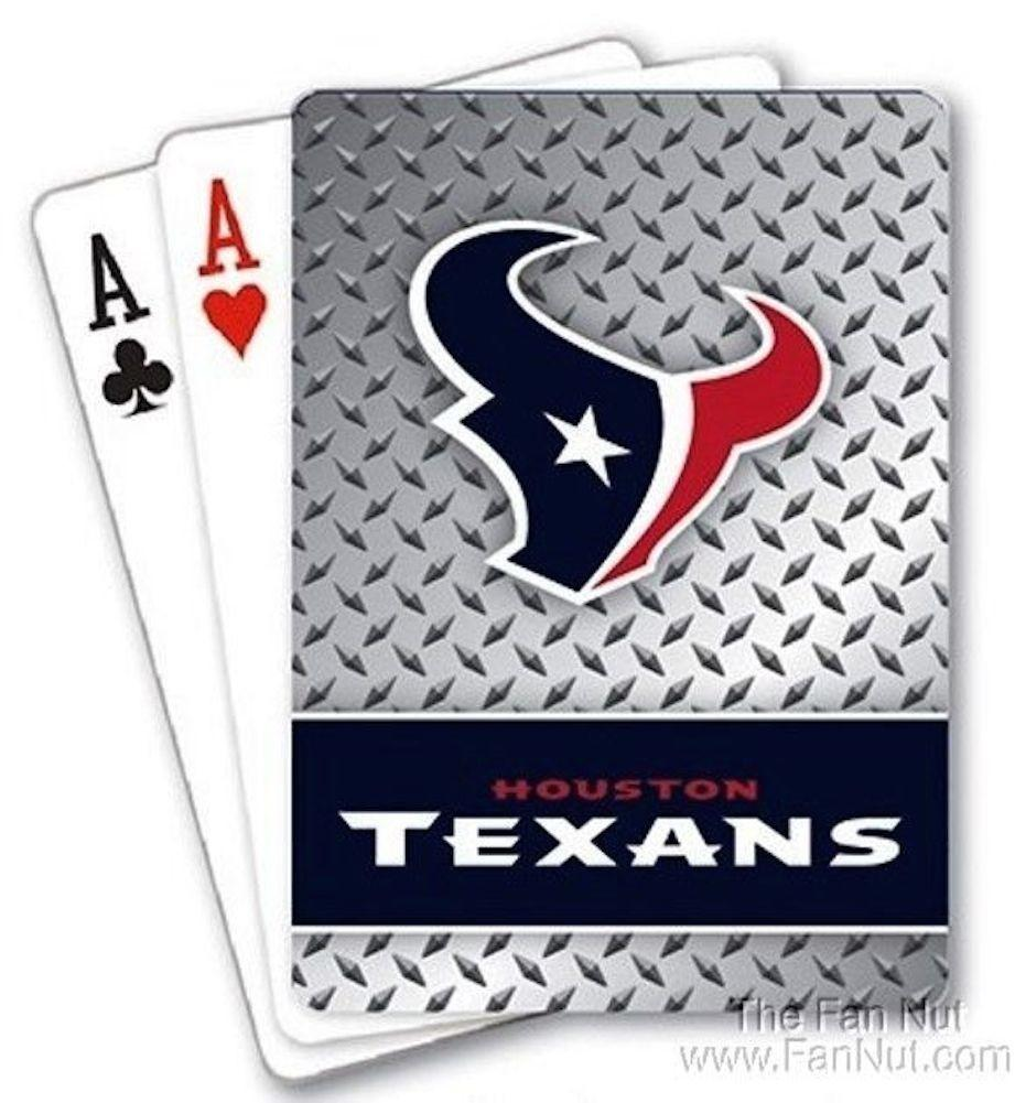 Houston Texans Playing Cards -Diamond Plate