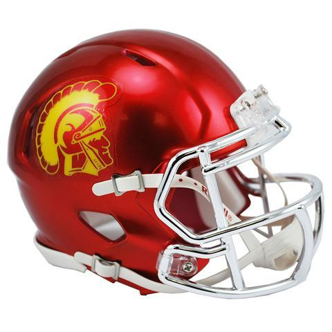 USC Trojans Helmet - Chrome Mini Football Helmet