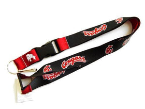 Washington State Cougars reversible lanyard keychain