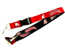 Load image into Gallery viewer, Washington State Cougars reversible lanyard keychain