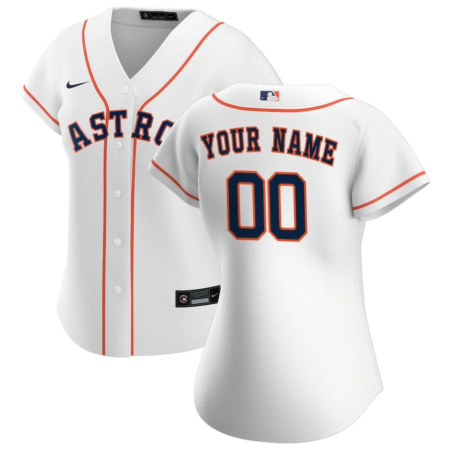 Houston Astros Jersey - Custom Name and Number - Women's White