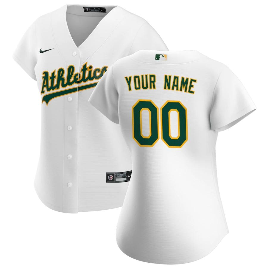 Oakland Athletics Jersey - Custom Name and Number - Women's White