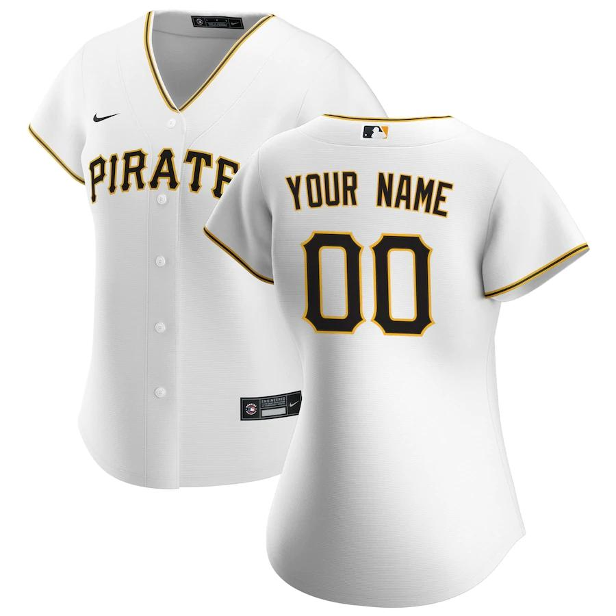 Pittsburgh Pirates Jersey - Custom Name and Number - Women's White
