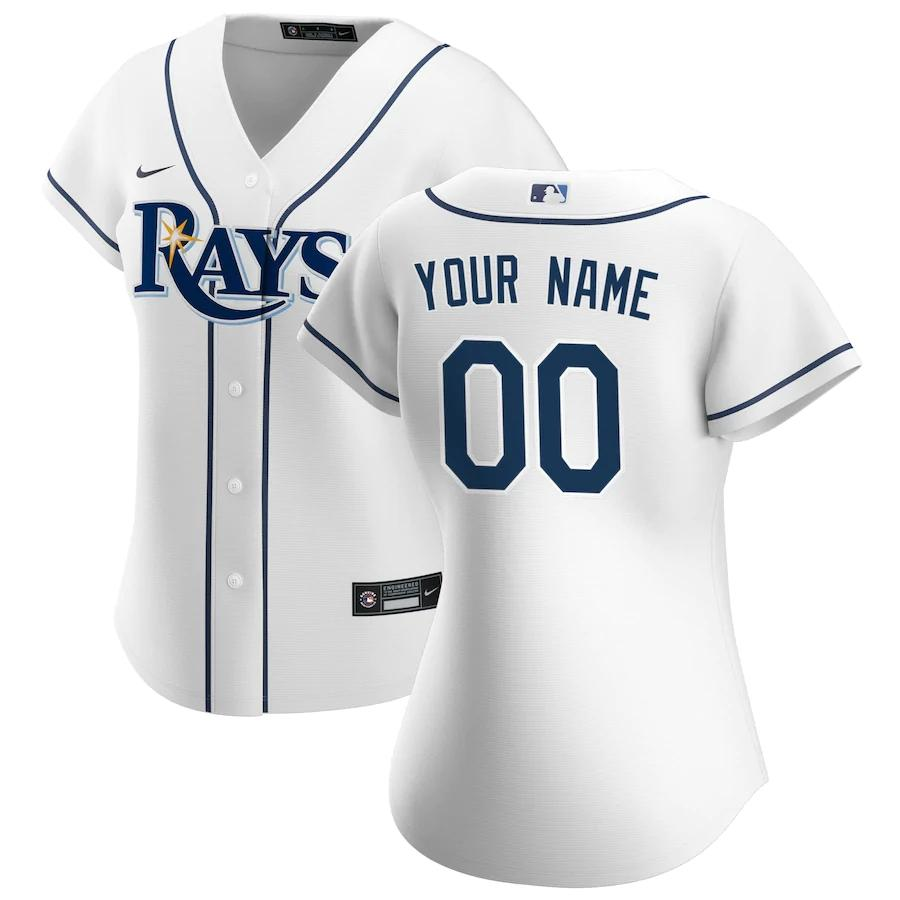 Tampa Bay Rays Jersey - Custom Name and Number - Women's White