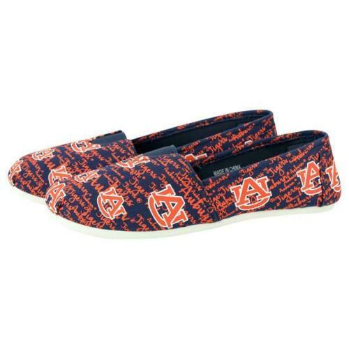 Auburn Tigers Shoes - Womens Script Print Canvas Shoes