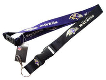 Load image into Gallery viewer, Baltimore Ravens reversible lanyard - keychain badge holder