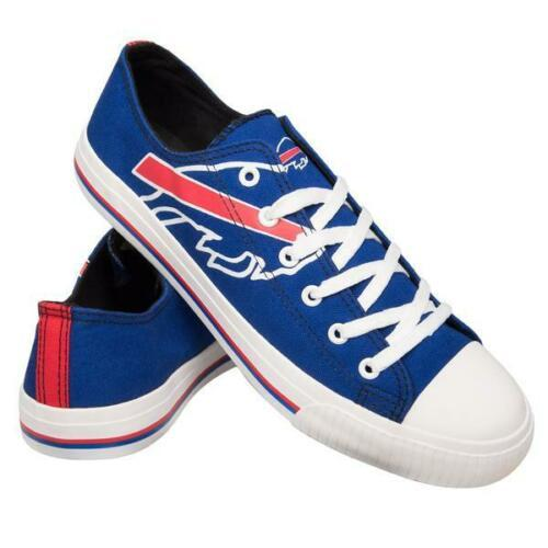 Buffalo Bills Shoes - Men's Low Top Canvas Logo Shoe