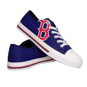 Boston Red Sox Shoes - Men's Low Top Canvas Logo Shoe