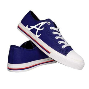 Atlanta Braves Shoes - Men's Low Top Canvas Logo Shoe