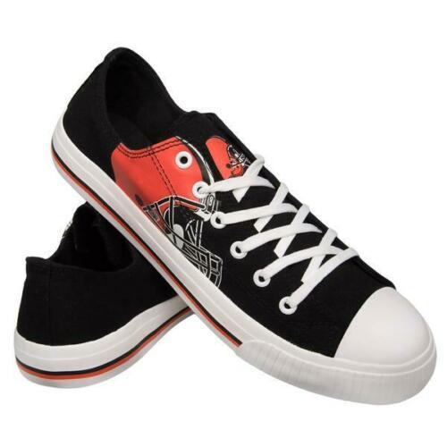Cleveland Browns Shoes - Men's Low Top Canvas Logo Shoe