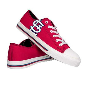 St. Louis Cardinals Shoes - Men's Low Top Canvas Logo Shoe