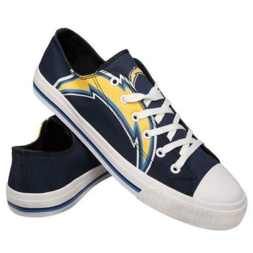 Los Angeles Chargers Shoes - Men's Low Top Canvas Logo Shoe