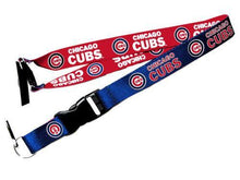 Load image into Gallery viewer, Chicago Cubs reversible lanyard - keychain badge holder