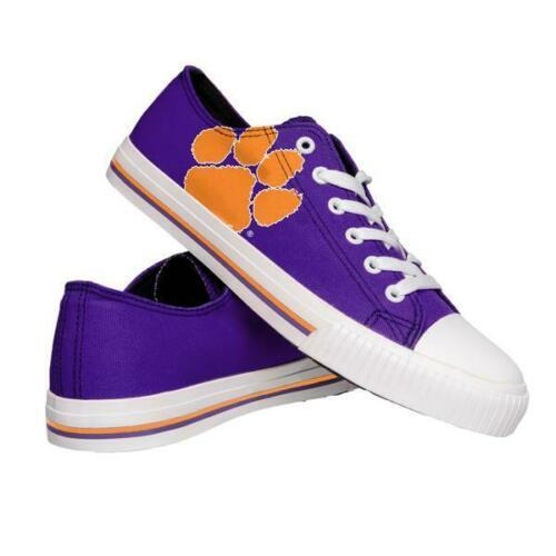 Clemson Tigers Shoes - Mens Low Top Big Logo Canvas