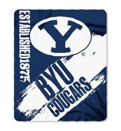 "BYU Cougars Blanket - ""Painted""  Fleece Throw (50"" x 60"")"