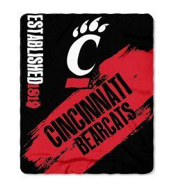 "Cincinnati Bearcats Blanket - ""Painted""  Fleece Throw (50"" x 60"")"