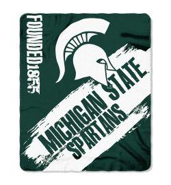 "Michigan State Spartans Blanket - ""Painted""  Fleece Throw (50"" x 60"")"