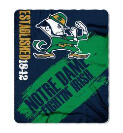 "Notre Dame Blanket - ""Painted""  Fleece Throw (50"" x 60"")"