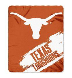 "Texas Longhorns Blanket - ""Painted""  Fleece Throw (50"" x 60"")"