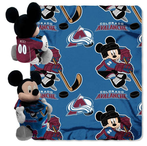 Colorado Avalanche Blanket - Mickey Hugger and Fleece Throw Set