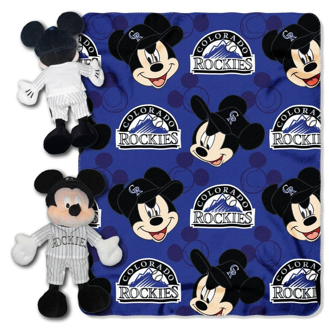 Colorado Rockies Blanket - Mickey Hugger and Fleece Throw Set