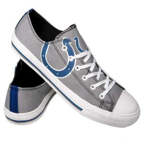 Indianapolis Colts Shoes - Men's Low Top Canvas Logo Shoe