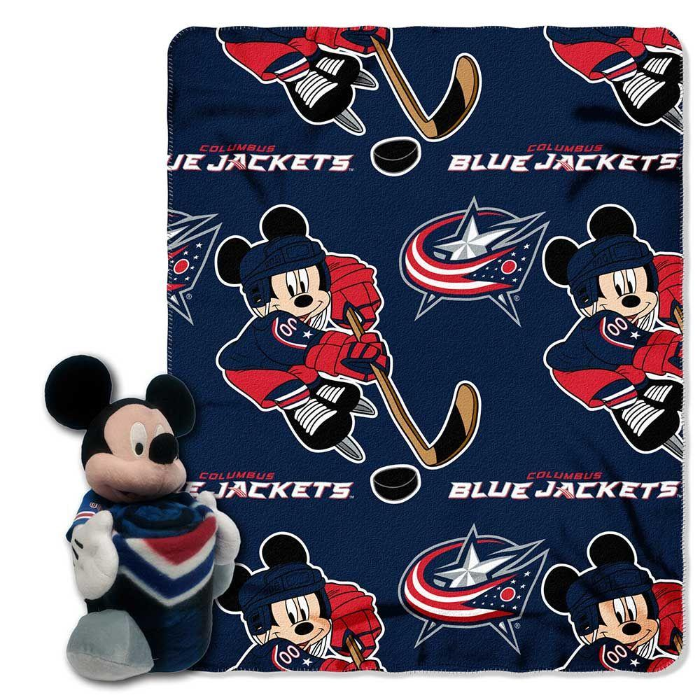 Columbus Blue Jackets Blanket - Mickey Hugger and Fleece Throw Set