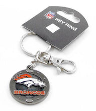 Load image into Gallery viewer, Denver Broncos Keychain - impact keychain key ring clip