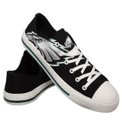 Philadelphia Eagles Shoes - Men's Low Top Canvas Logo Shoe