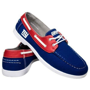 New York Giants Shoes - Men's Side Logo Canvas Deck Shoes